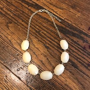 Francesca's Gold and Cream Statement Necklace